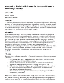White Paper on Combining Statistical Evidence for Increased Power in Detecting Cheating