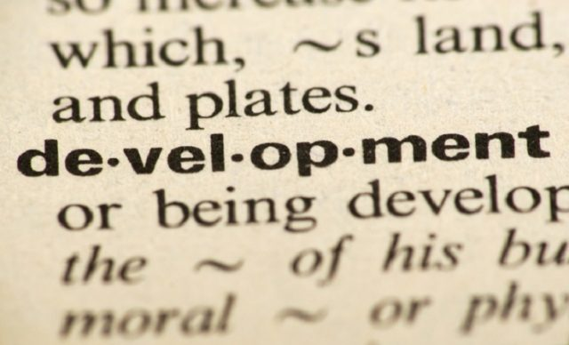 Word development in a dictionary